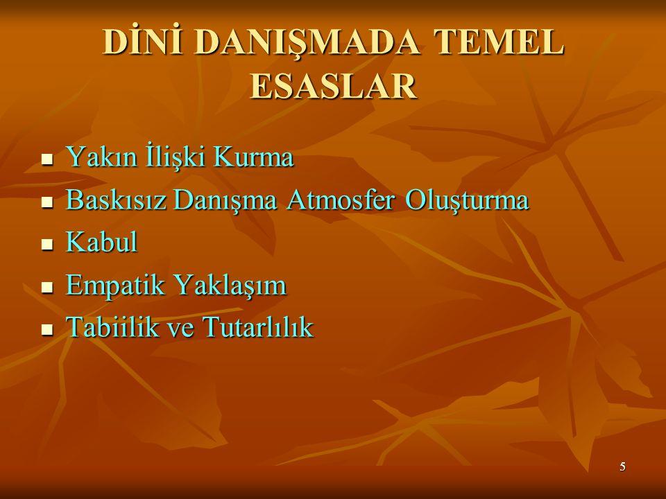 DİNİ DANIŞMADA TEMEL ESASLAR