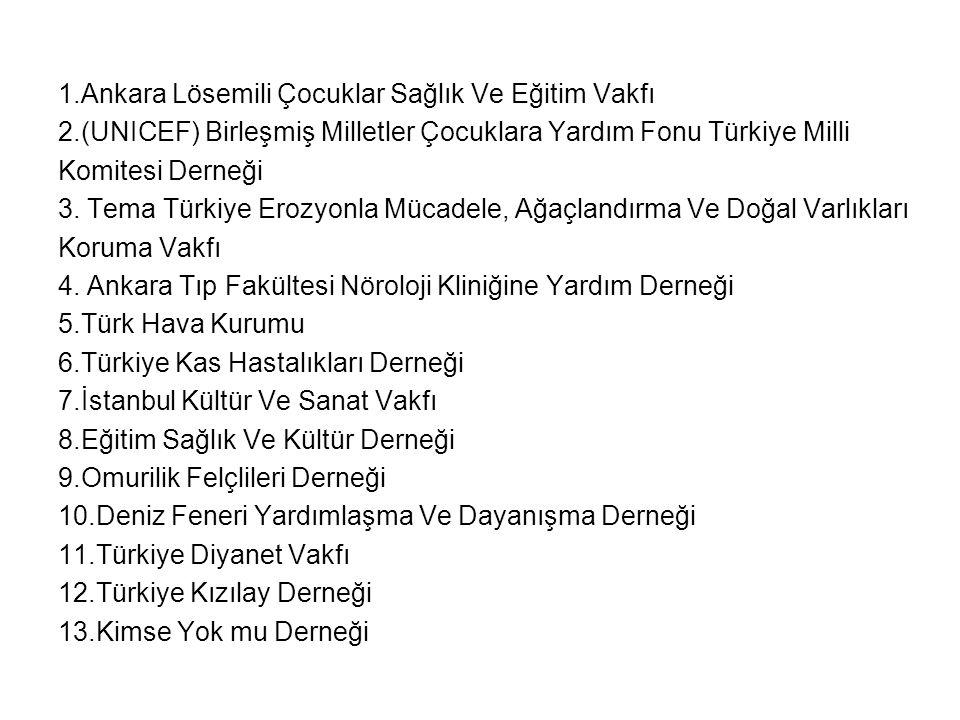 1.Ankara Lösemili Çocuklar Sağlık Ve Eğitim Vakfı
