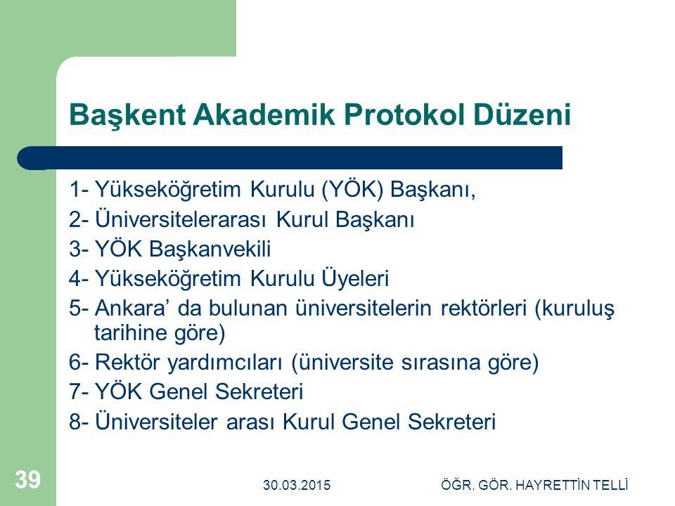 Başkent Akademik Protokol Düzeni