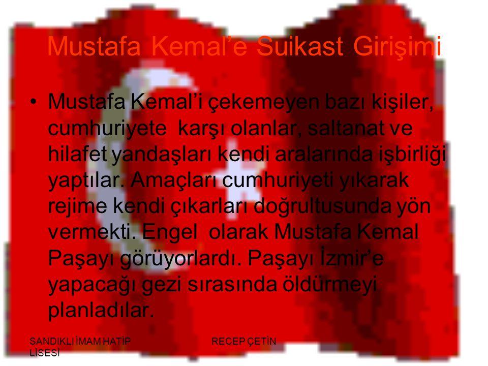 Mustafa Kemal'e Suikast Girişimi
