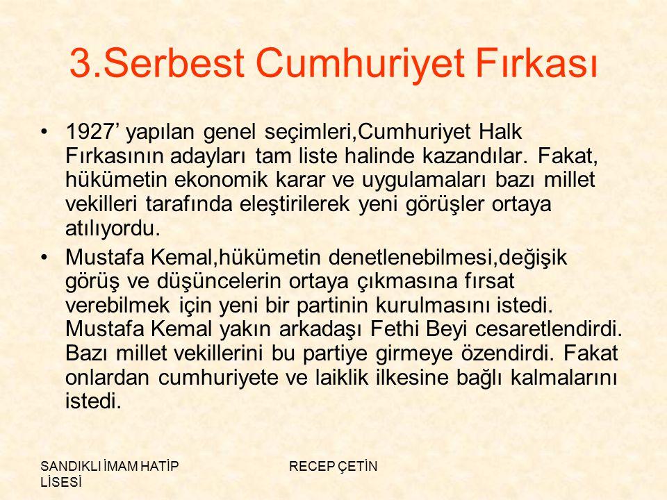 3.Serbest Cumhuriyet Fırkası