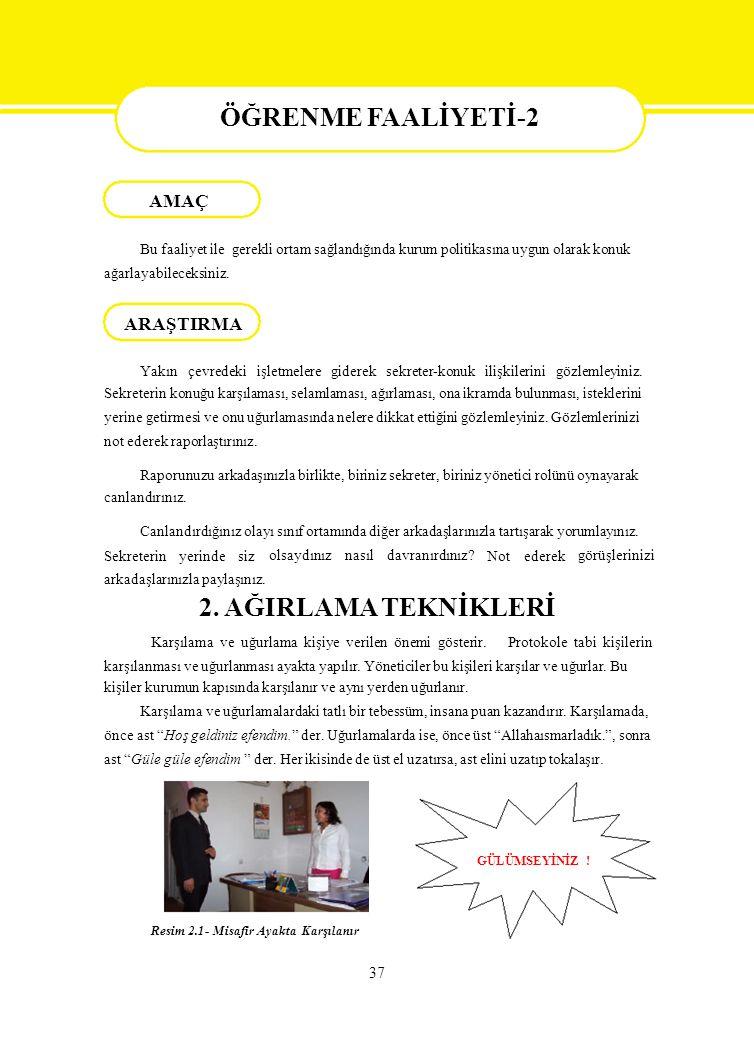 RENME FAALİYETİ-2 AMAÇ ÖĞRENME FAALİYETİ-2