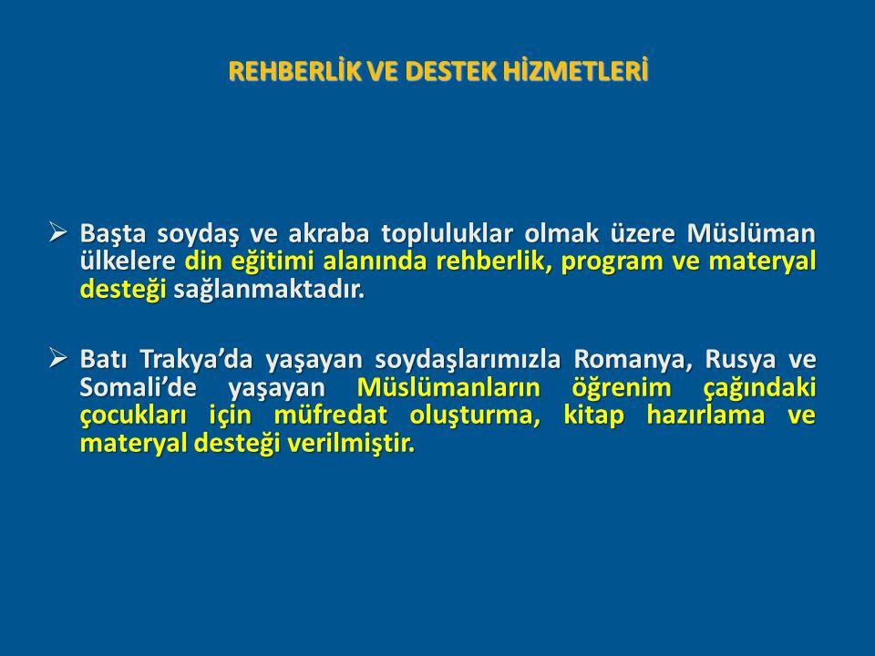REHBERLİK VE DESTEK HİZMETLERİ
