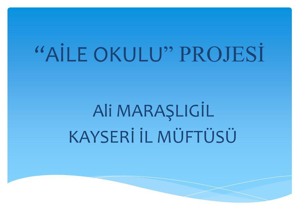 Ali MARAŞLIGİL KAYSERİ İL MÜFTÜSÜ