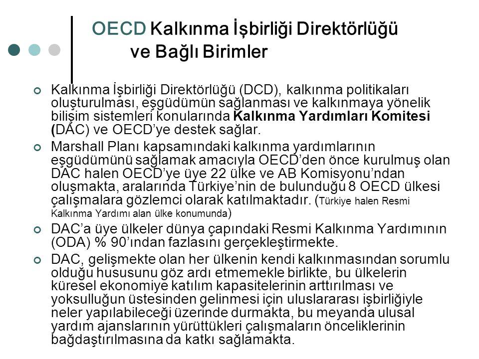 OECD Kalkınma İşbirliği Direktörlüğü ve Bağlı Birimler