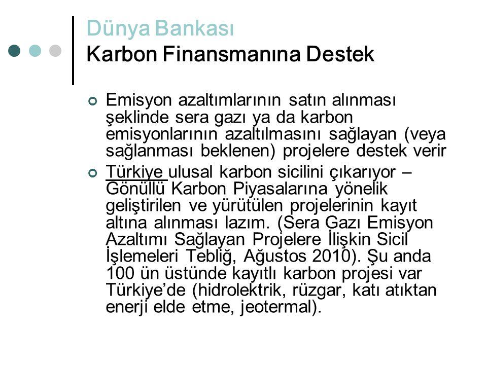 Dünya Bankası Karbon Finansmanına Destek
