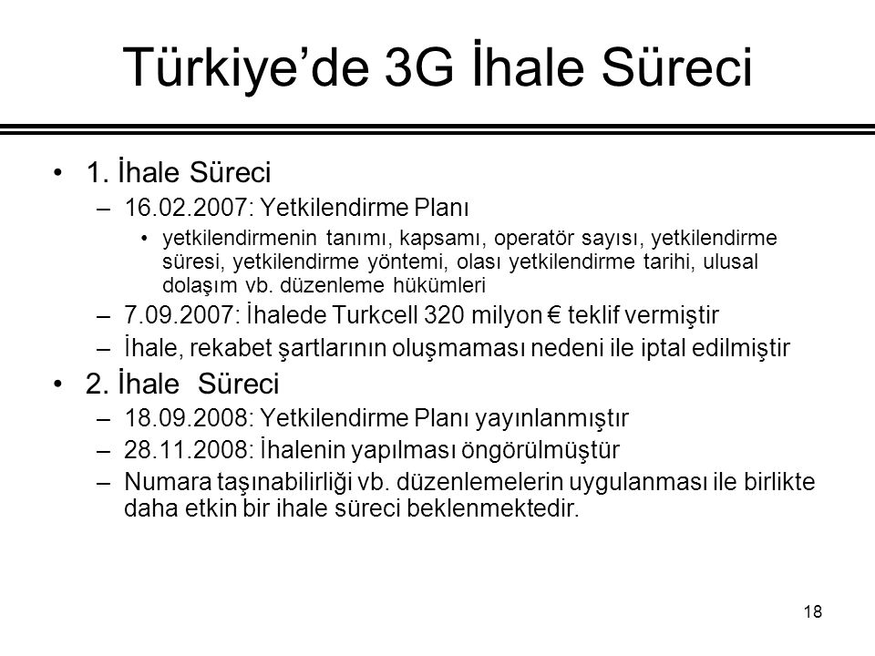 Türkiye'de 3G İhale Süreci