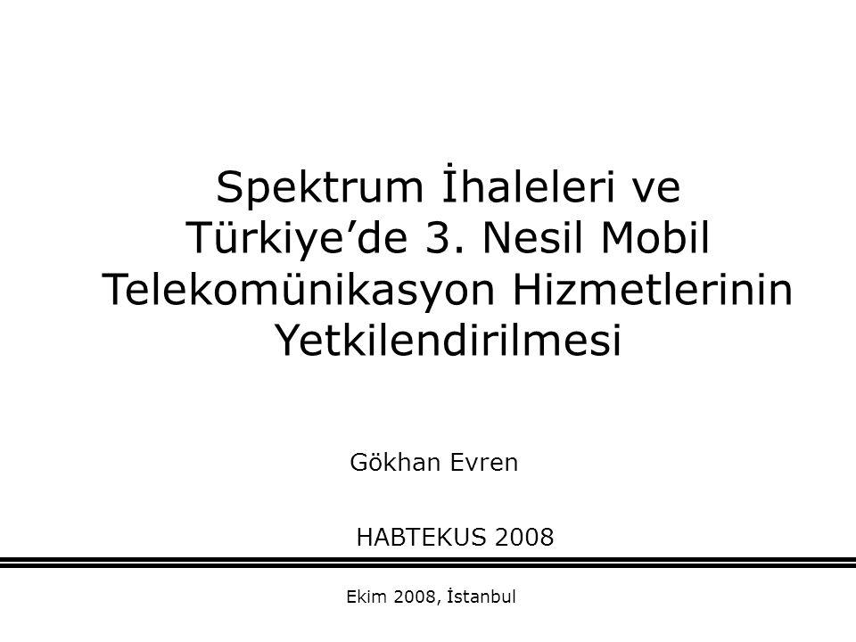 Spektrum İhaleleri ve Türkiye'de 3
