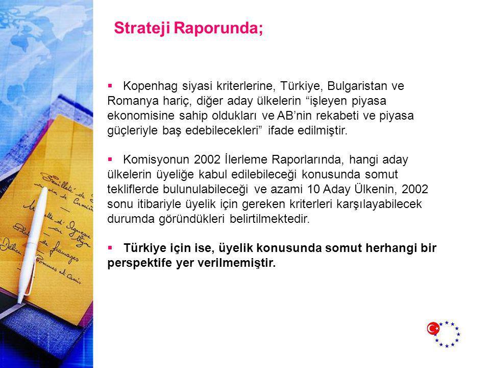 Strateji Raporunda;