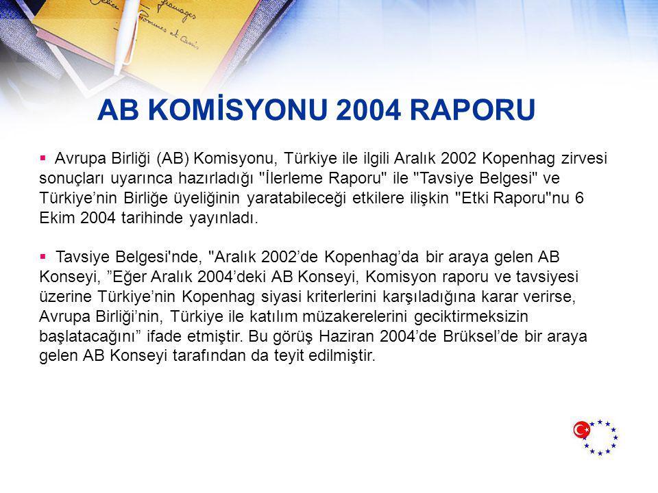 AB KOMİSYONU 2004 RAPORU