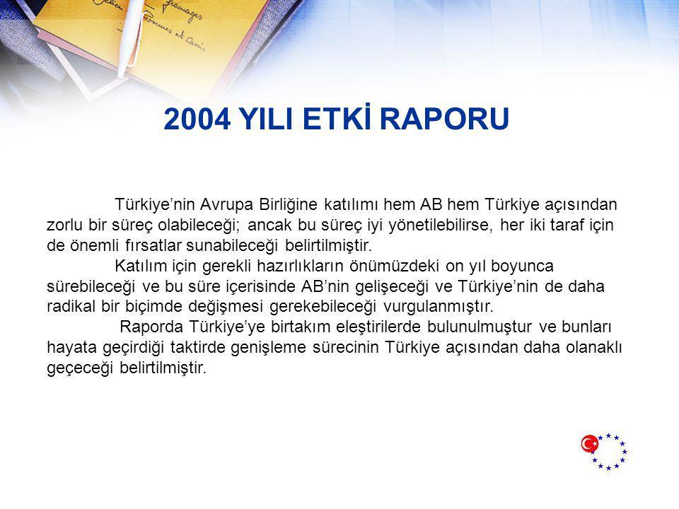 2004 YILI ETKİ RAPORU