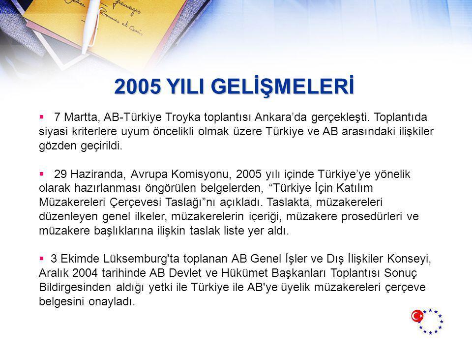2005 YILI GELİŞMELERİ