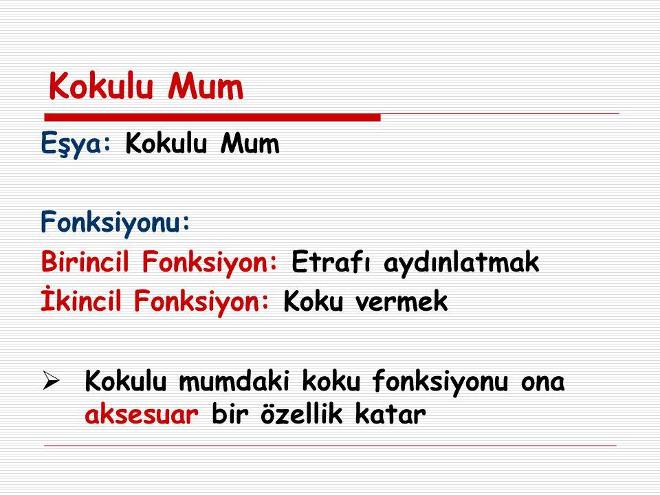 Kokulu Mum Eşya: Kokulu Mum Fonksiyonu: