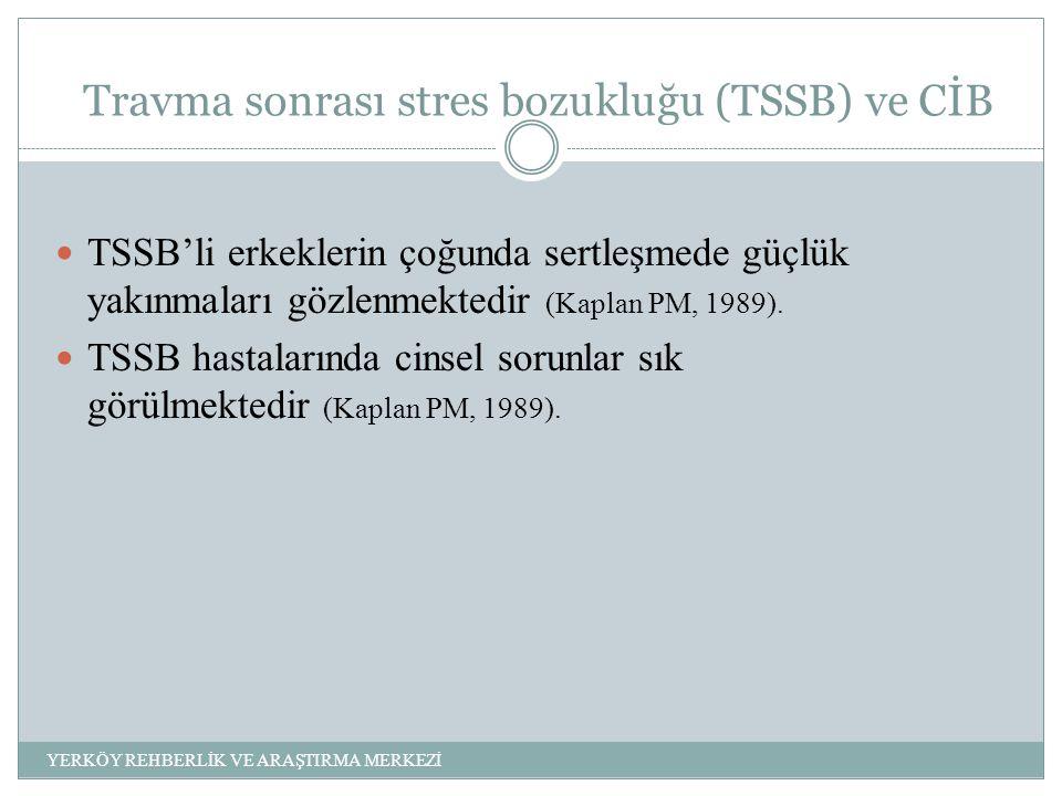 Travma sonrası stres bozukluğu (TSSB) ve CİB