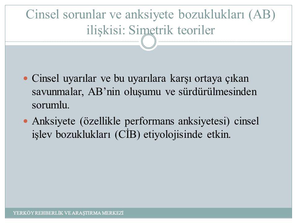 Cinsel sorunlar ve anksiyete bozuklukları (AB) ilişkisi: Simetrik teoriler