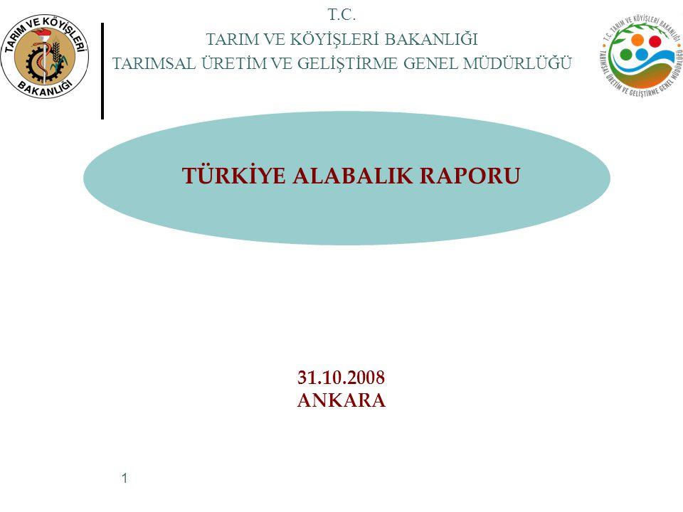 TÜRKİYE ALABALIK RAPORU