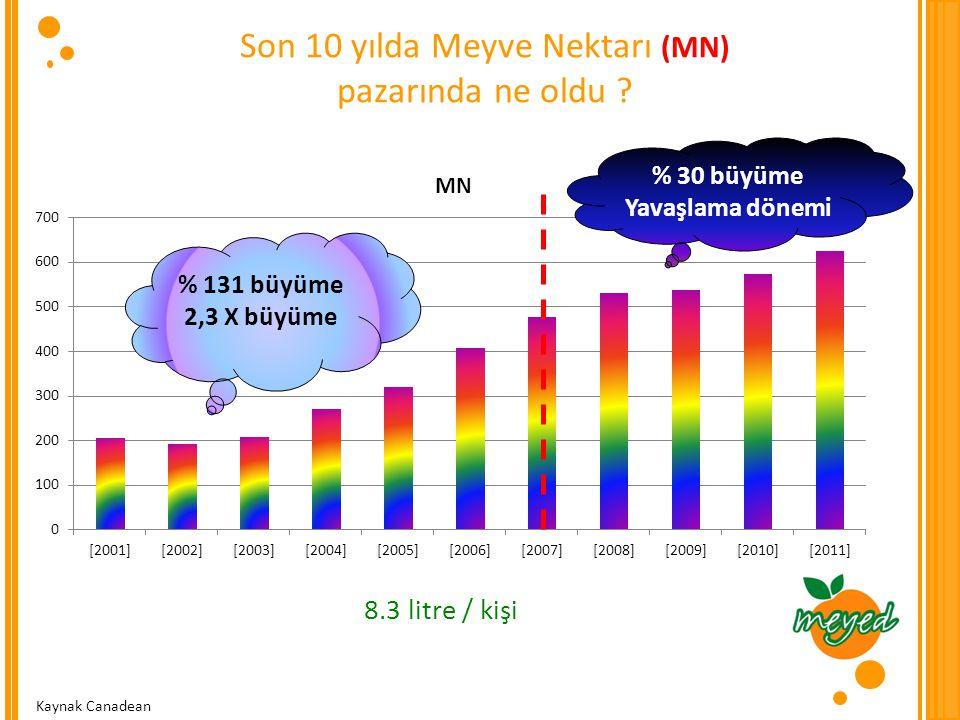 Son 10 yılda Meyve Nektarı (MN)