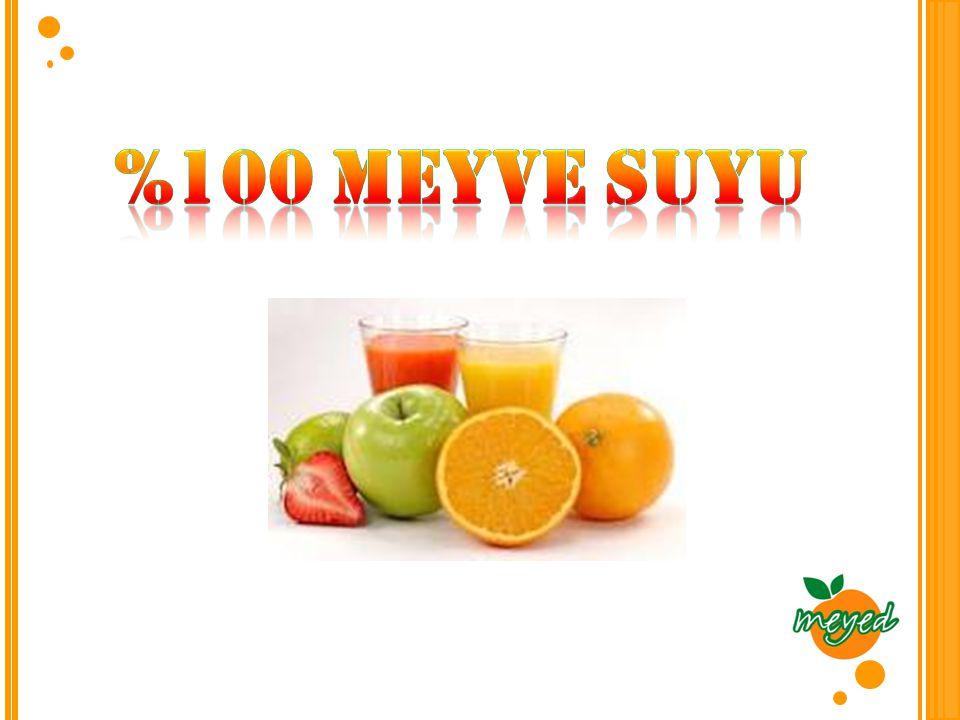 %100 Meyve suyu
