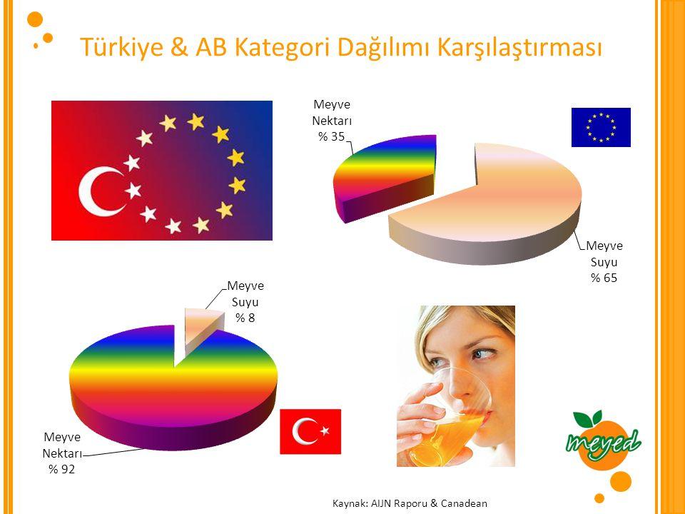 Türkiye & AB Kategori Dağılımı Karşılaştırması