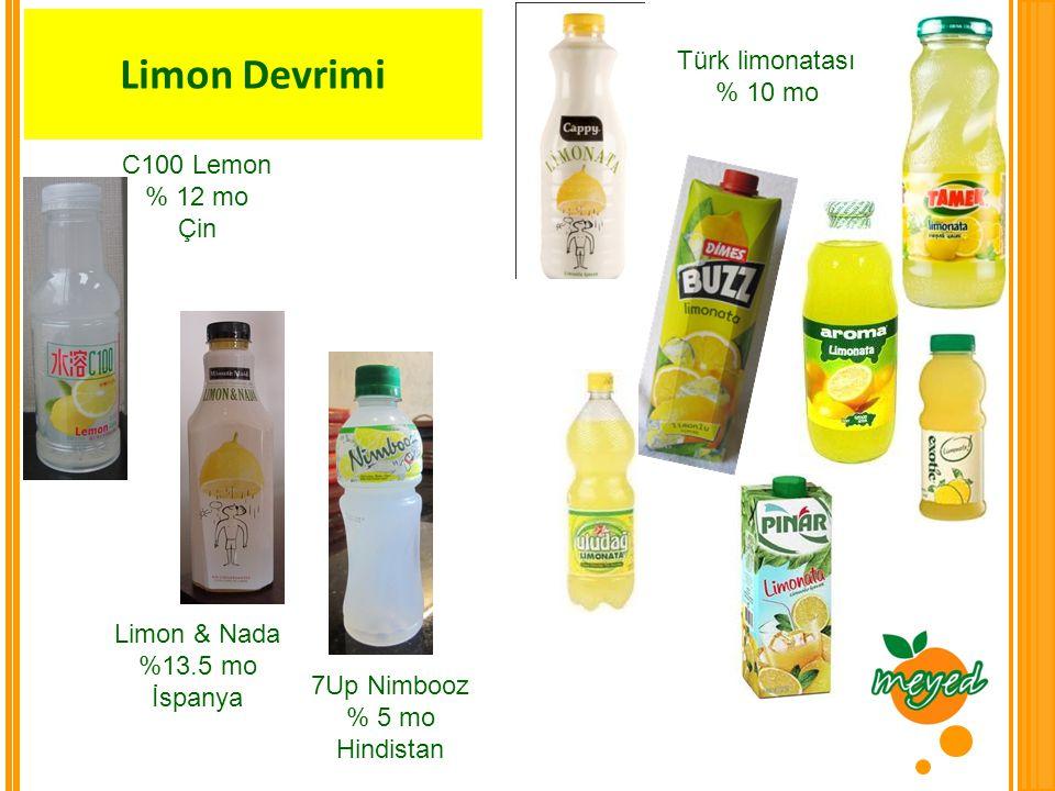 Limon Devrimi Türk limonatası % 10 mo C100 Lemon % 12 mo Çin