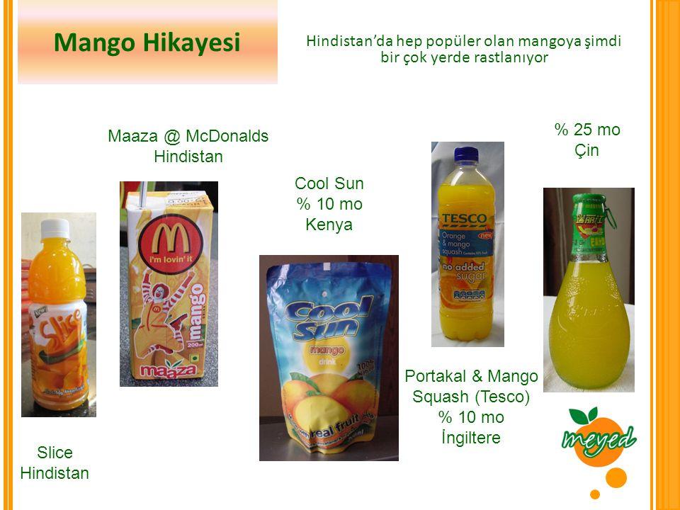 Hindistan'da hep popüler olan mangoya şimdi bir çok yerde rastlanıyor
