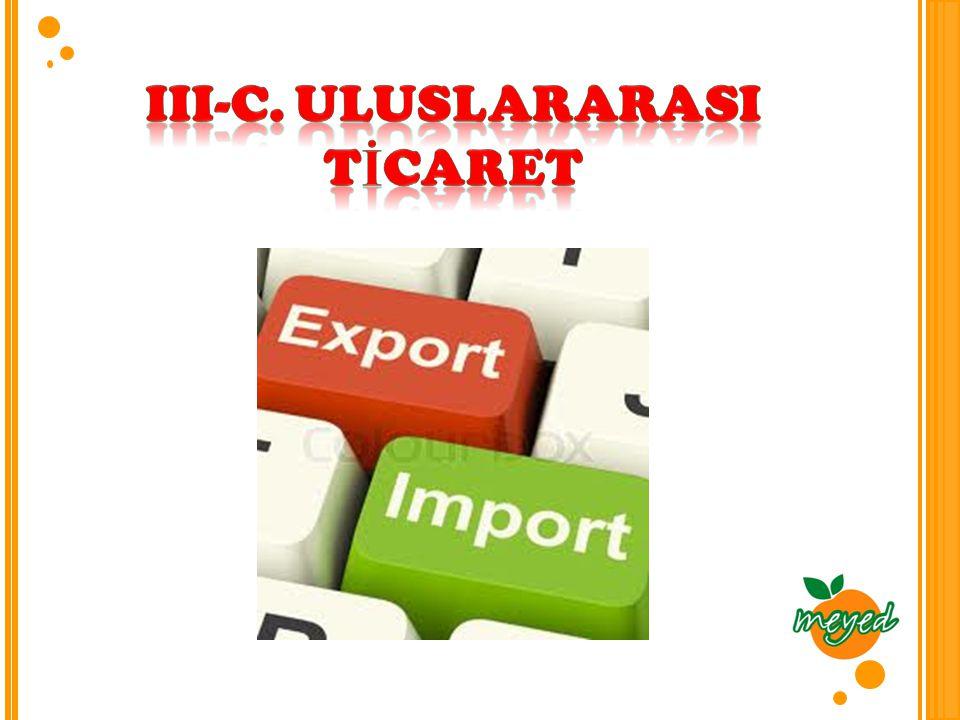 III-C. ULUSLARARASI TİCARET