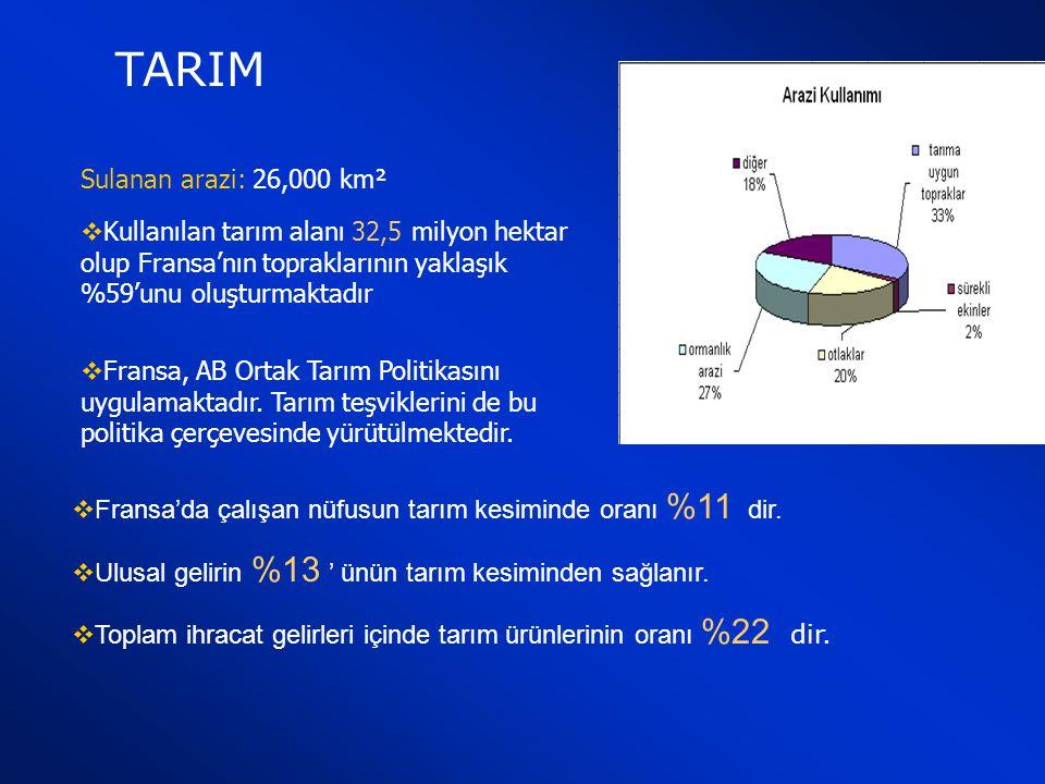 TARIM Sulanan arazi: 26,000 km²