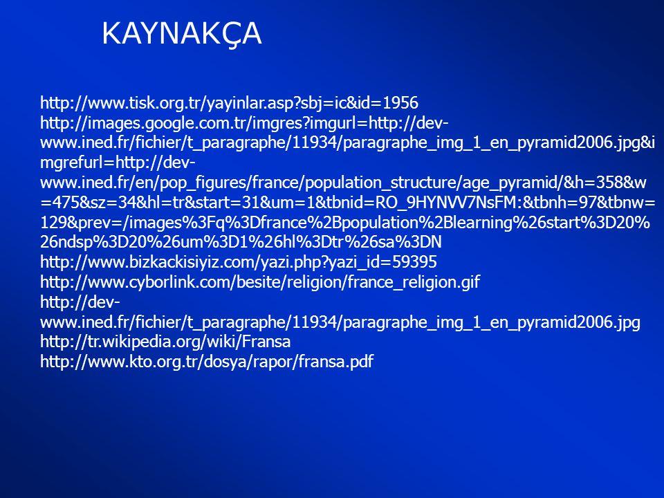 KAYNAKÇA http://www.tisk.org.tr/yayinlar.asp sbj=ic&id=1956