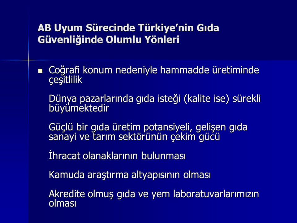 AB Uyum Sürecinde Türkiye'nin Gıda Güvenliğinde Olumlu Yönleri