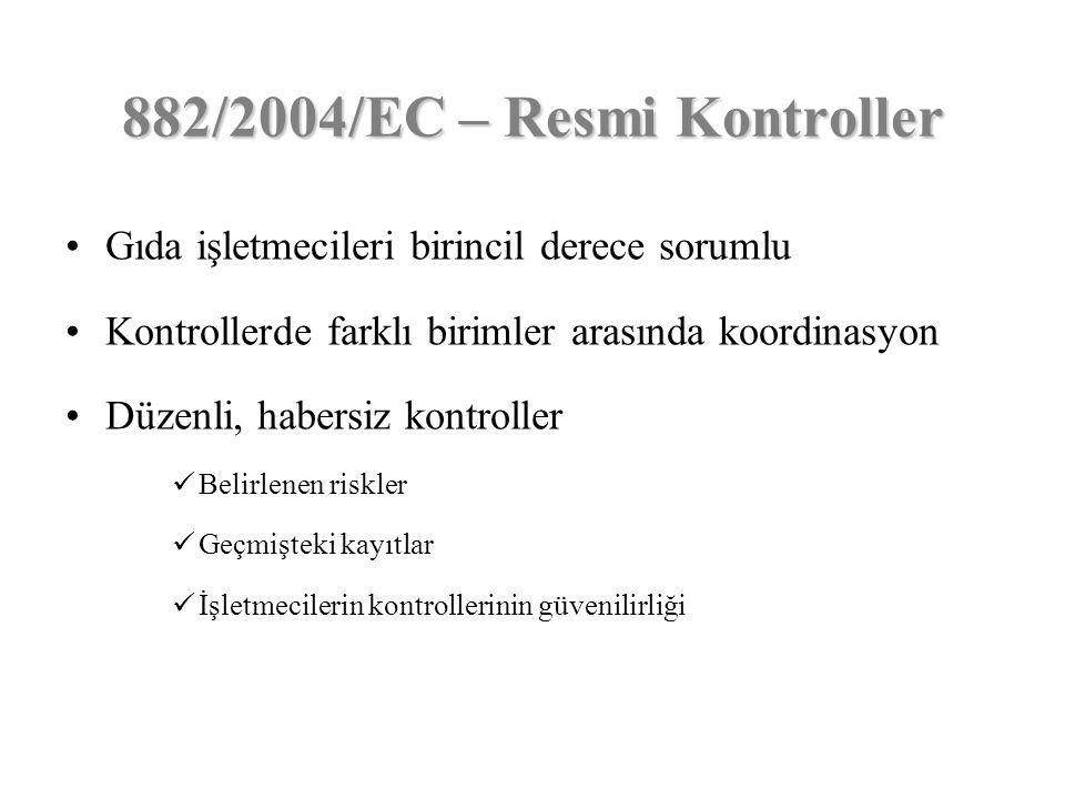 882/2004/EC – Resmi Kontroller