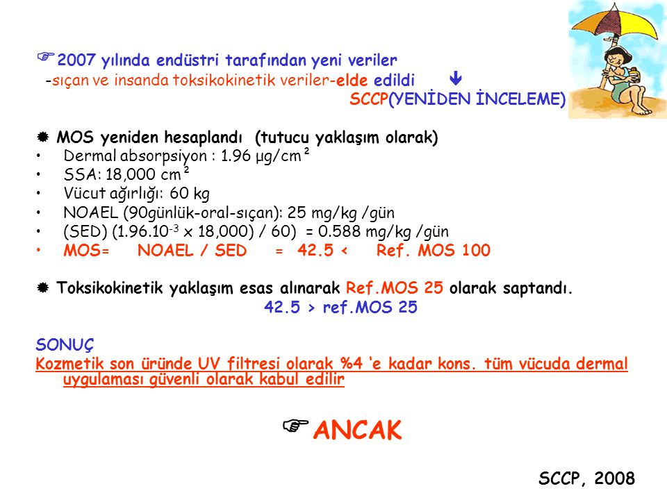 ANCAK 2007 yılında endüstri tarafından yeni veriler SCCP, 2008