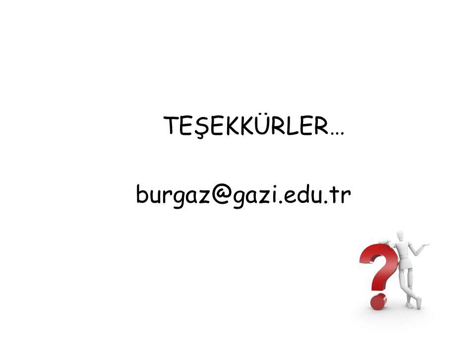 TEŞEKKÜRLER… burgaz@gazi.edu.tr