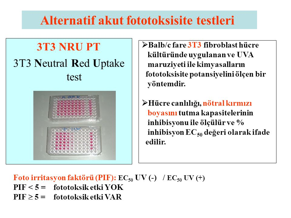 3T3 Neutral Red Uptake test