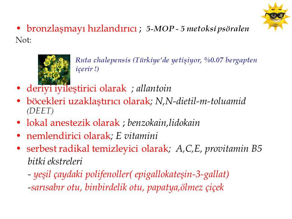 bronzlaşmayı hızlandırıcı ; 5-MOP - 5 metoksi psöralen
