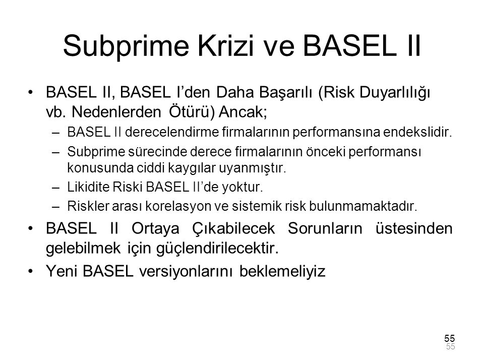 Subprime Krizi ve BASEL II