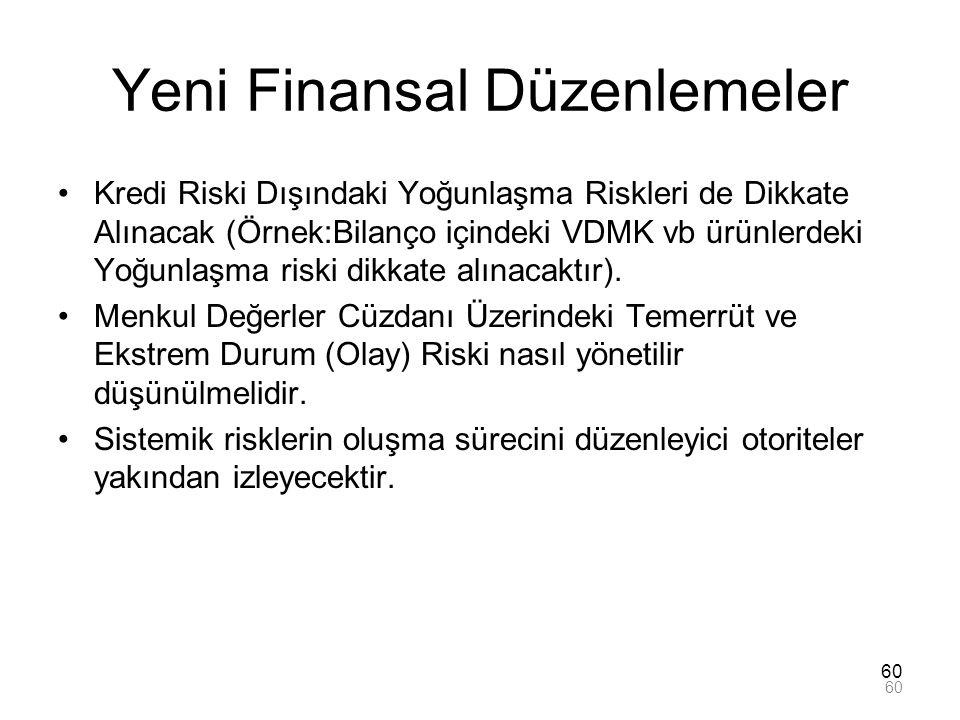 Yeni Finansal Düzenlemeler