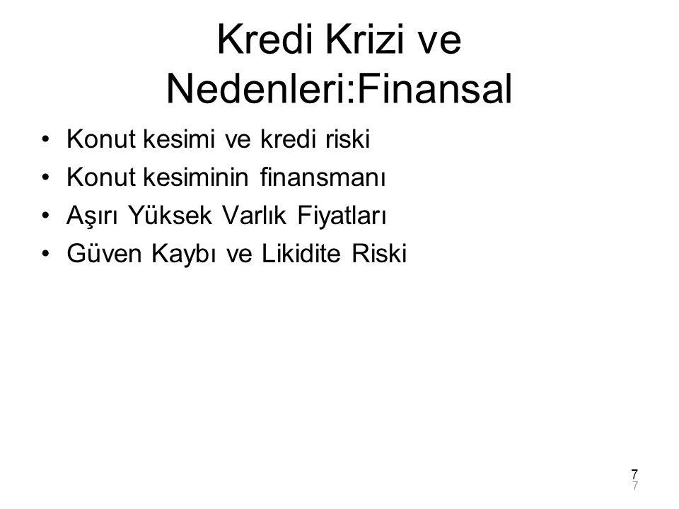 Kredi Krizi ve Nedenleri:Finansal