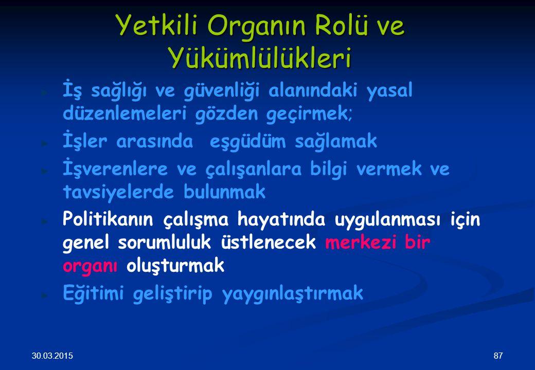 Yetkili Organın Rolü ve Yükümlülükleri