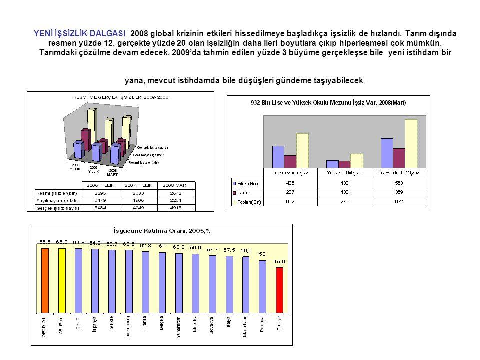 YENİ İŞSİZLİK DALGASI 2008 global krizinin etkileri hissedilmeye başladıkça işsizlik de hızlandı.