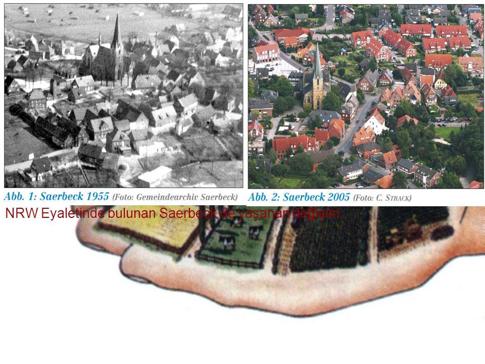NRW Eyaletinde bulunan Saerbeck'de yaşanan değişim.