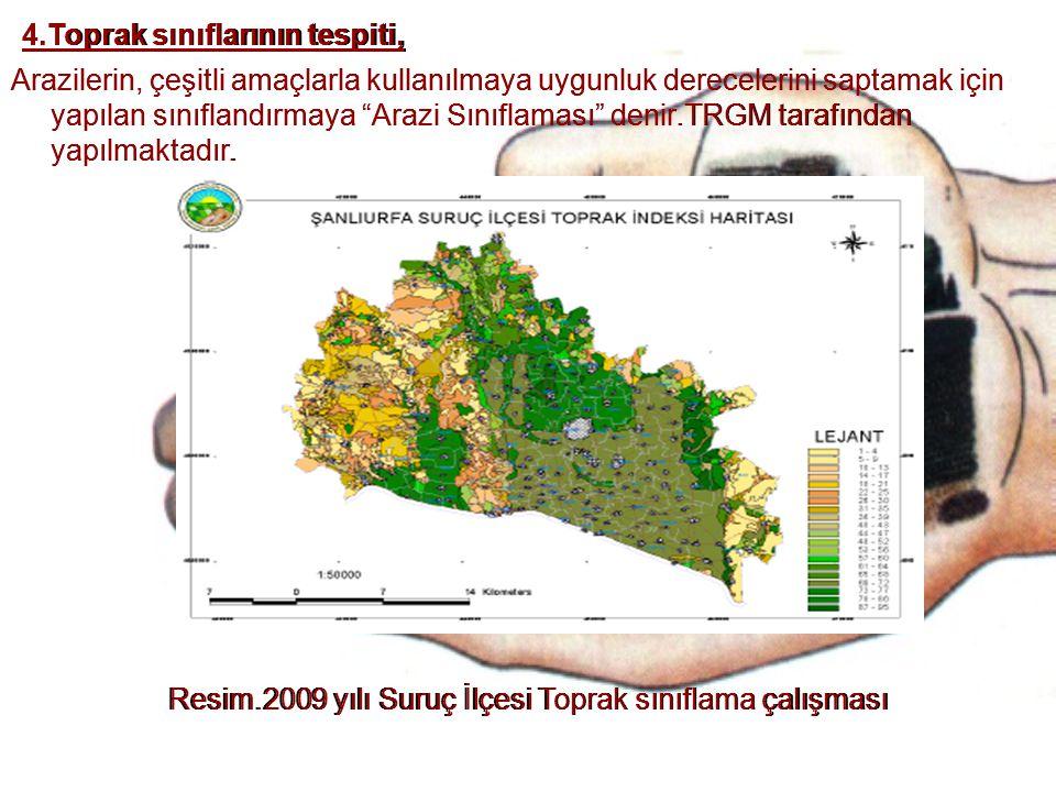 4.Toprak sınıflarının tespiti, 4.Toprak sınıflarının tespiti,