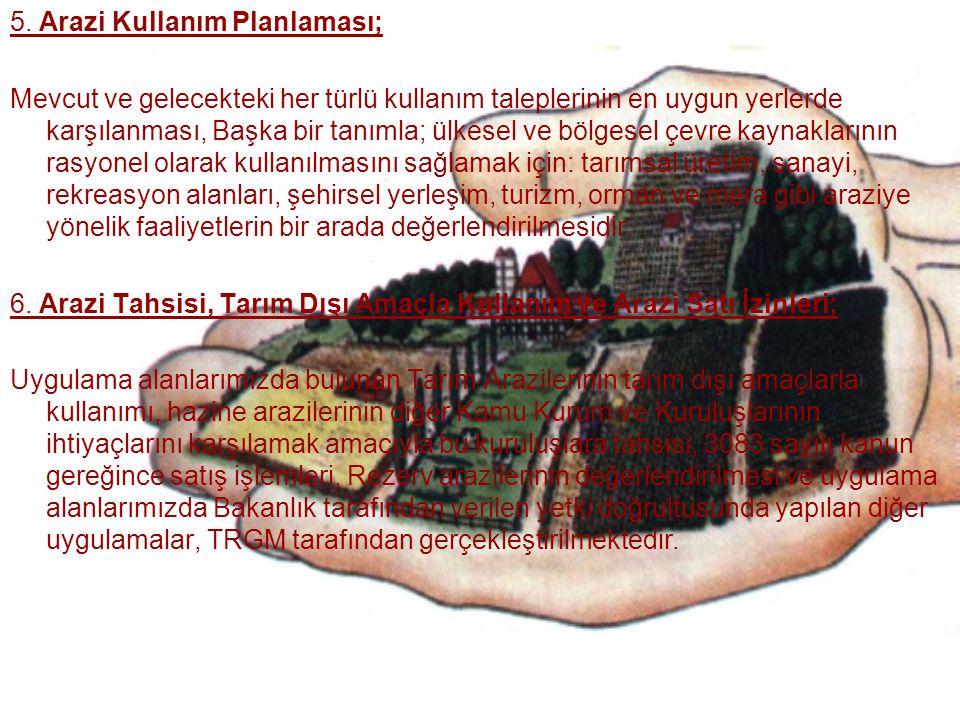 5. Arazi Kullanım Planlaması;