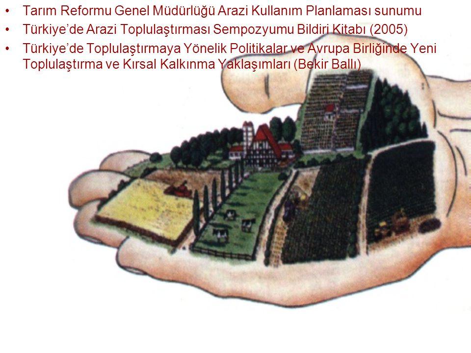 Tarım Reformu Genel Müdürlüğü Arazi Kullanım Planlaması sunumu