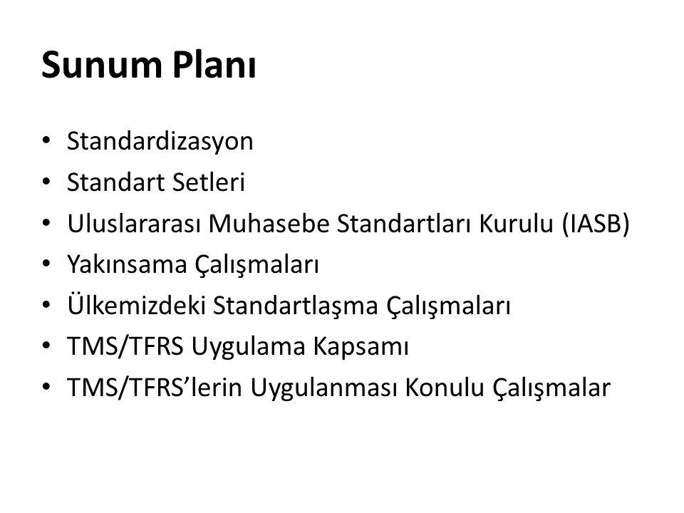 Sunum Planı Standardizasyon Standart Setleri