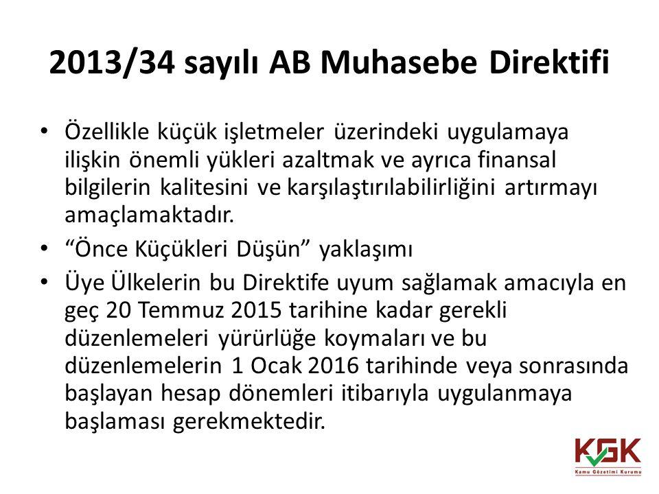 2013/34 sayılı AB Muhasebe Direktifi