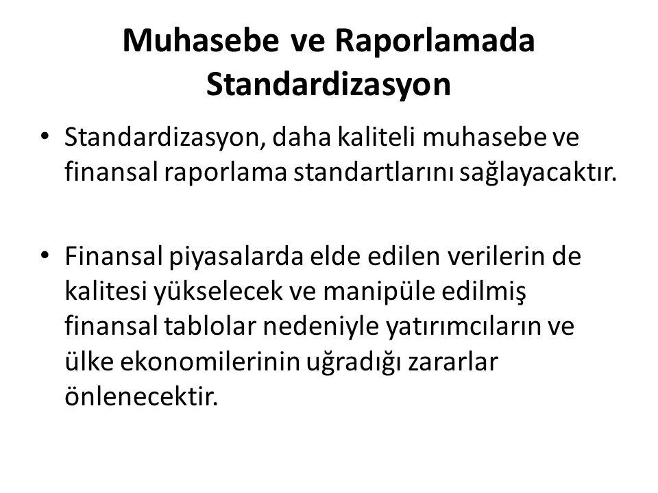 Muhasebe ve Raporlamada Standardizasyon