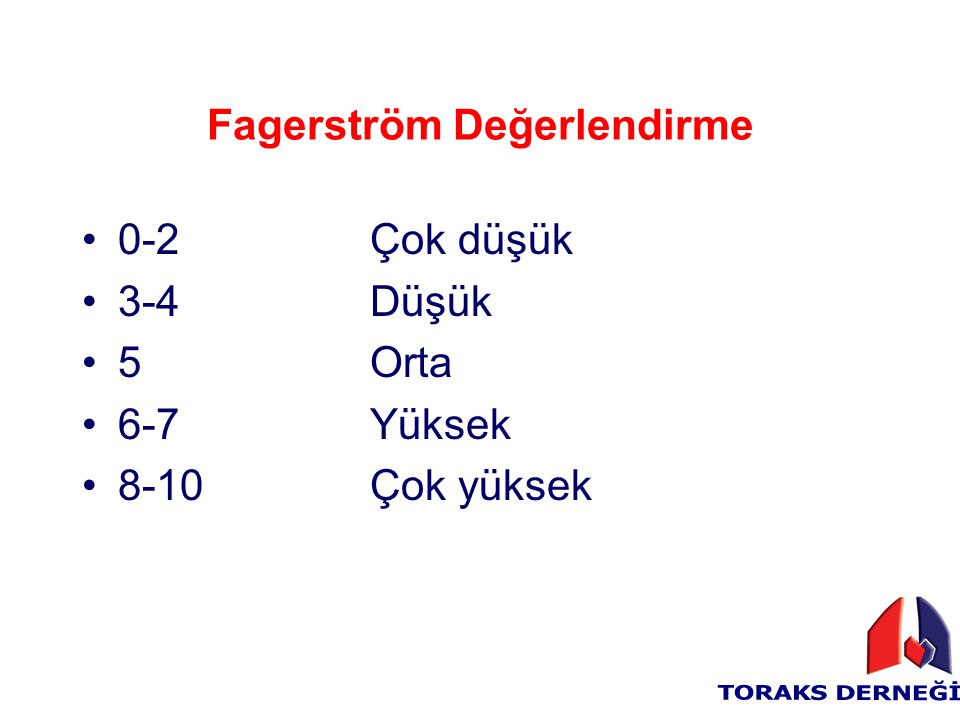 Fagerström Değerlendirme