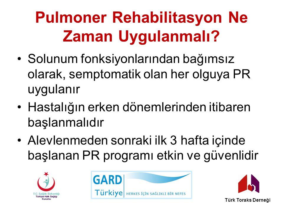 Pulmoner Rehabilitasyon Ne Zaman Uygulanmalı