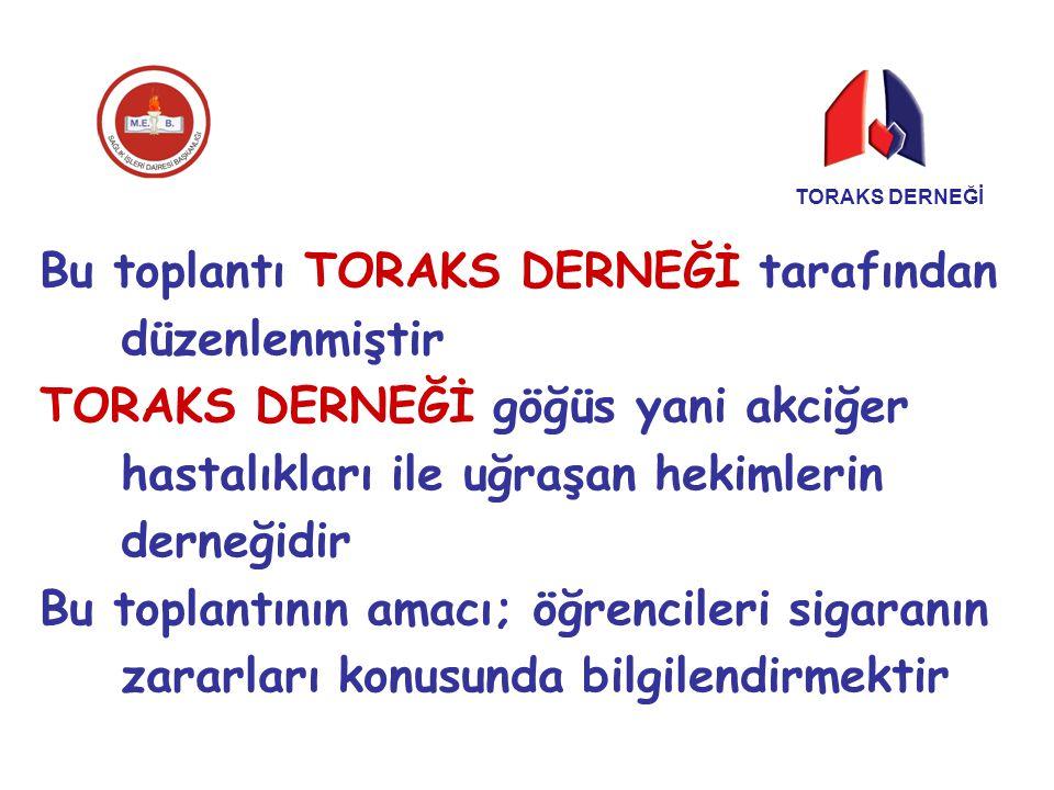 Bu toplantı TORAKS DERNEĞİ tarafından düzenlenmiştir