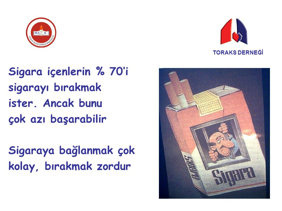 Sigaraya bağlanmak çok kolay, bırakmak zordur